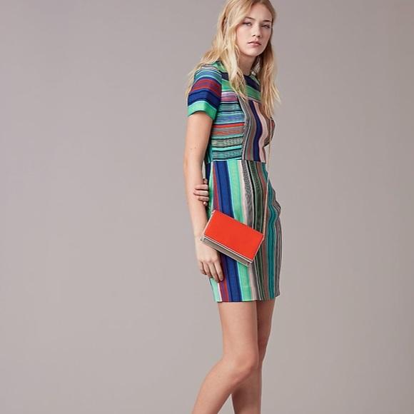 5309d4ba Diane Von Furstenberg Dresses | New Dvf Tailored Burman Stripe Shift ...